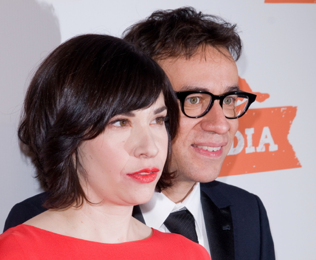With Fred Armisen. Photo by Dan Jackman/WENN