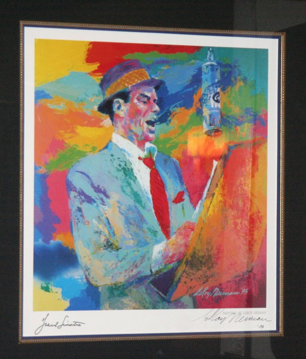 Portrait of Frank Sinatra by LeRoy Neiman (image supplied by WENN)