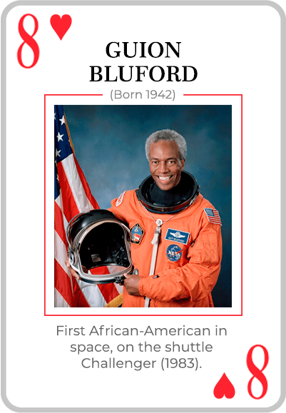 Guion Bluford on a card